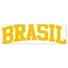 Brasil Yellow Bumper Sticker