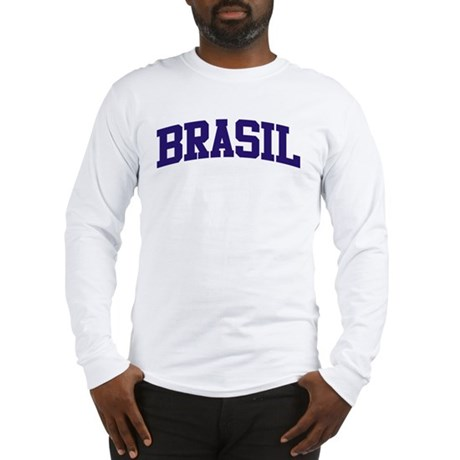 Brazil Blue Long Sleeve T-Shirt