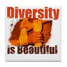Diversity is Beautiful Tile Coaster