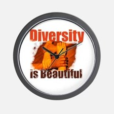 Diversity is Beautiful Wall Clock