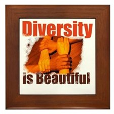 Diversity is Beautiful Framed Tile