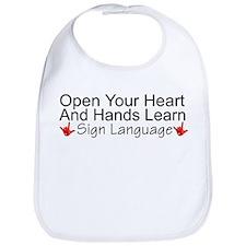 Open Your Heart And Hands Lea Bib