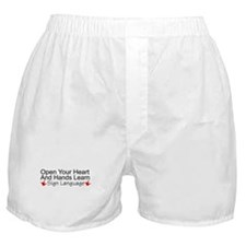 Open Your Heart And Hands Lea Boxer Shorts