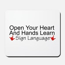 Open Your Heart And Hands Lea Mousepad