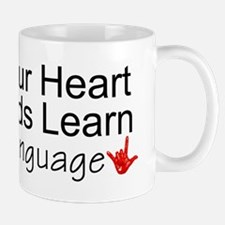Open Your Heart And Hands Lea Mug
