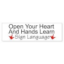 Open Your Heart And Hands Lea Bumper Bumper Sticker