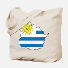 Map Of Uruguay Tote Bag