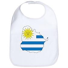 Map Of Uruguay Bib