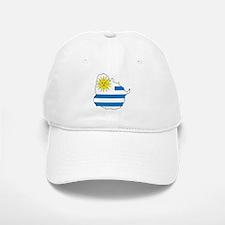 Map Of Uruguay Baseball Baseball Cap