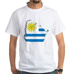 3D Map Of Uruguay Shirt