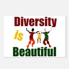 Diversity is Beautiful (3) Postcards (Package of 8