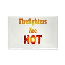 Hot Firefighters Rectangle Magnet