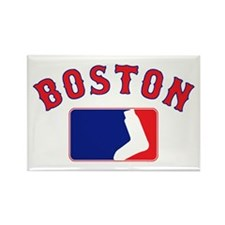 Boston Sox Fan Rectangle Magnet