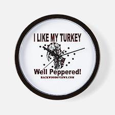 Peppered Turkey Wall Clock