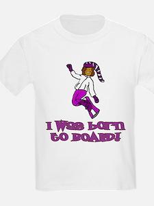 Born to Board Olivia Kids T-Shirt