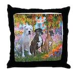 Garden / 3 Boxers Throw Pillow