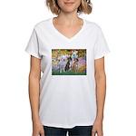 Garden / 3 Boxers Women's V-Neck T-Shirt