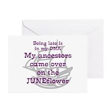 Genealogy JUNEFlower Greeting Cards (Pk of 10)