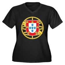 Portugal Coat Of arms Women's Plus Size V-Neck Dar