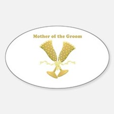 Champagne Mother of the Groom Sticker (Oval)