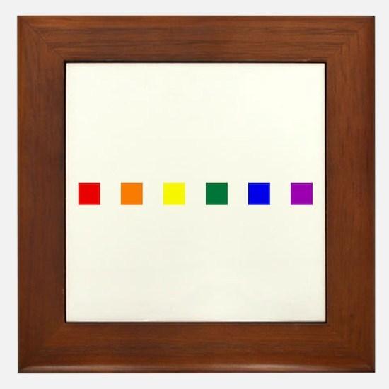 Rainbow Pride Squares Framed Tile
