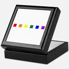 Rainbow Pride Squares Keepsake Box