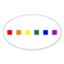 Rainbow Pride Squares Decal