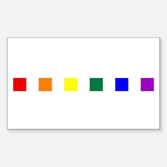 Rainbow Pride Squares Sticker (Rectangle)
