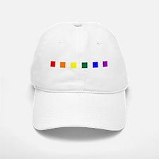 Rainbow Pride Squares Baseball Baseball Cap
