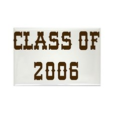 class of 2006 western Rectangle Magnet