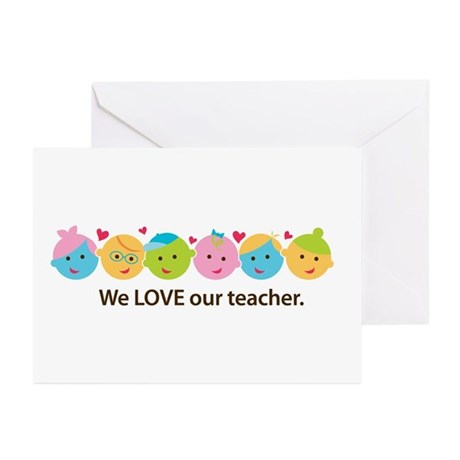 We Love Teacher Greeting Cards (Pk of 10)