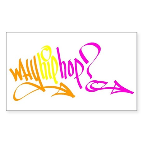 Why Hip Hop? Rectangle Sticker