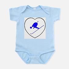 skierwhiteheart Infant Bodysuit