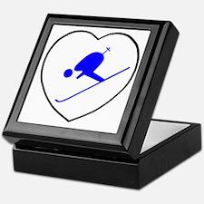 skierwhiteheart Keepsake Box