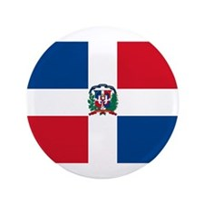 "Dominican Flag 3.5"" Button"