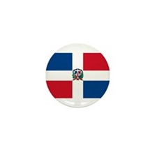 Dominican Flag Mini Button (10 pack)