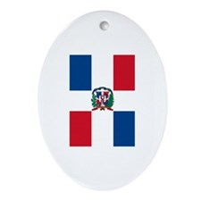 Dominican Flag Ornament (Oval)