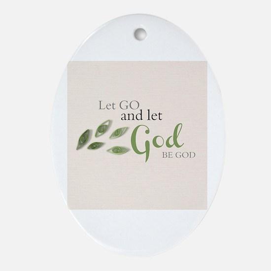 Cute God Oval Ornament