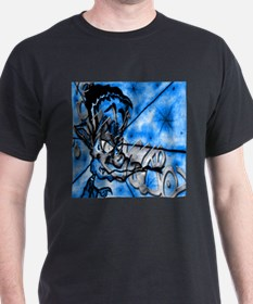 GECKOMANDOSAZUL Graffiti Art Black T-Shirt