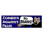 Zombies Against Palin bumper sticker