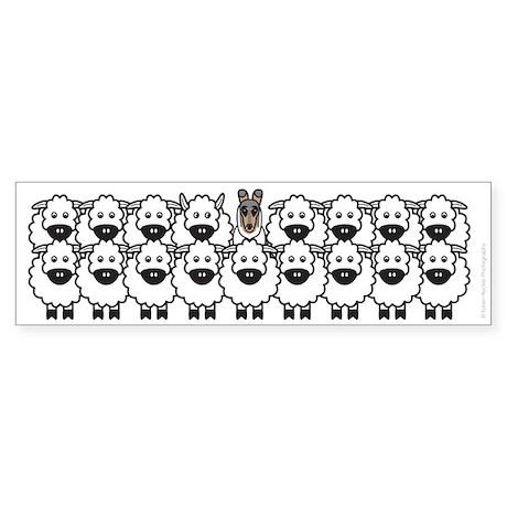 Collie in Sheep Sticker (Bumper)