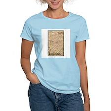Indiana Stamp Women's Pink T-Shirt