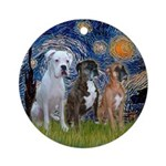 Starry / 3 Boxers Ornament (Round)