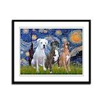 Starry / 3 Boxers Framed Panel Print
