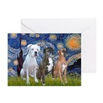 Starry / 3 Boxers Greeting Cards (Pk of 10)