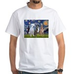 Starry / 3 Boxers White T-Shirt