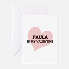 Paula Is My Valentine Greeting Cards (Pk of 10