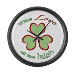 Love of the Irish Large Wall Clock