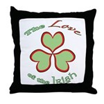Love of the Irish Throw Pillow