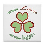 Love of the Irish Tile Coaster